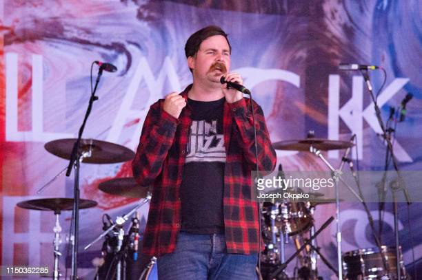 Will Gardner of Black Peaks performs on stage during day 3 of Download festival 2019 at Donington Park on June 16 2019 in Castle Donington England