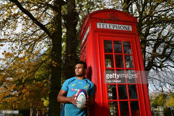 Will Genia of Australia poses for a portrait following a training session at the Lensbury Hotel on November 16 2017 in London England