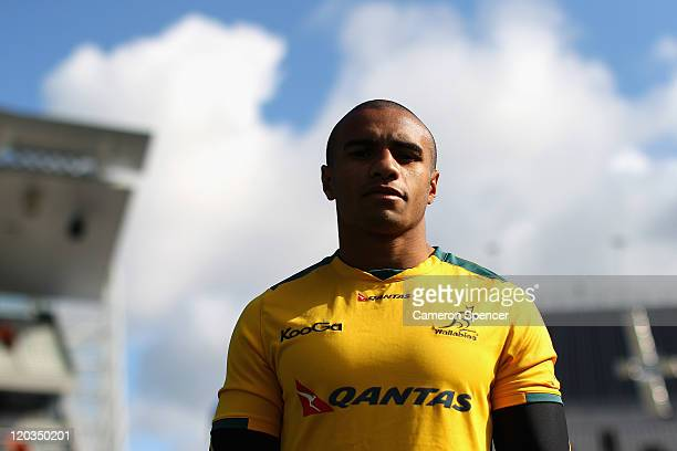 Will Genia of the Wallabies poses during an Australian Wallabies Captain's Run at Eden Park on August 5, 2011 in Auckland, New Zealand.