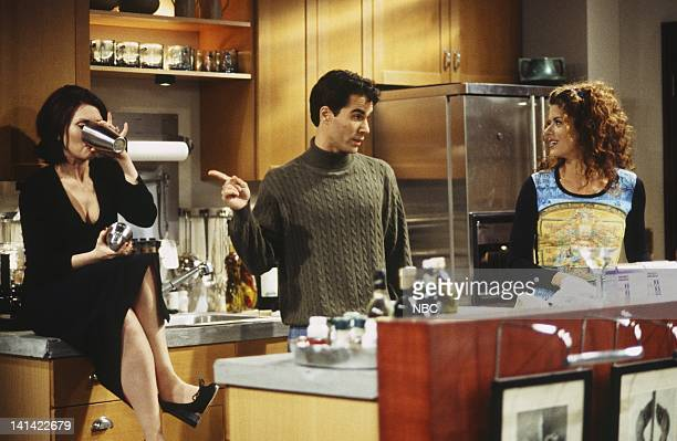 """Will & Grace -- """"Big Brother is Coming: Part 1"""" Episode 14 -- Aired -- Pictured: Megan Mullally as Karen Walker, Eric McCormack as Will Truman, Debra..."""