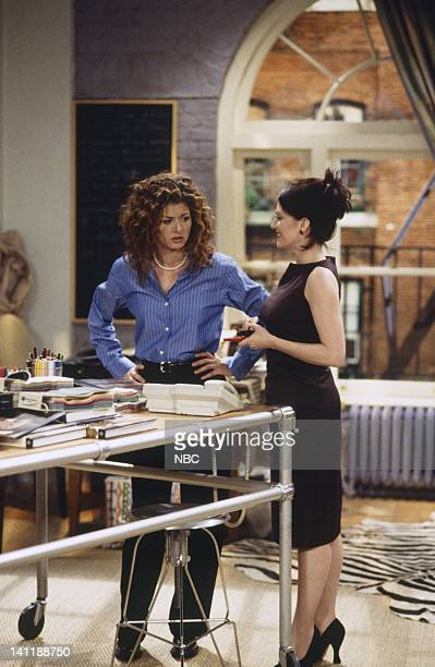 Will Grace 'Grace Replaced' Episode 18 Aired Pictured Debra Messing as Grace Adler Molly Shannon as Val Bassett Photo by Chris Haston/NBCU Photo Bank
