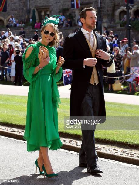Will Greenwood and Caroline Greenwood arrive for the wedding ceremony of Britain's Prince Harry and US actress Meghan Markle at St George's Chapel...