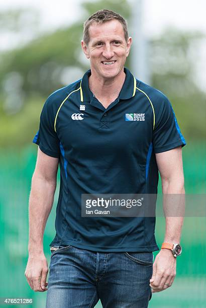 Will Greenwood attends the launch of the Rugby World Cup Trophy Tour 100 days before the Rugby World Cup at Twickenham Stadium on June 10 2015 in...