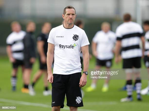 Will Greenwood of Barbarians during a training session at Latymer Upper School playing fields on October 31 2017 in London England