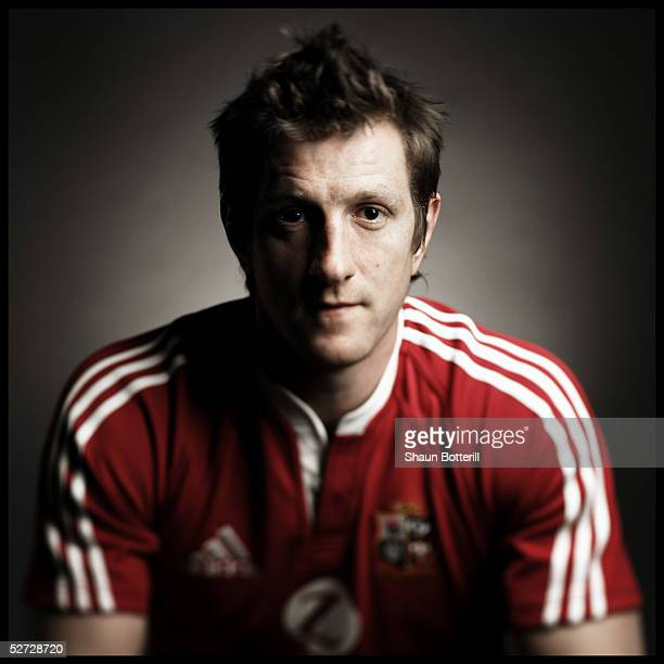 Will Greenwood pictured during the British and Irish Lions Squad Photocall for the 2005 Tour to New Zealand on April 18 2005 in Cardiff Wales