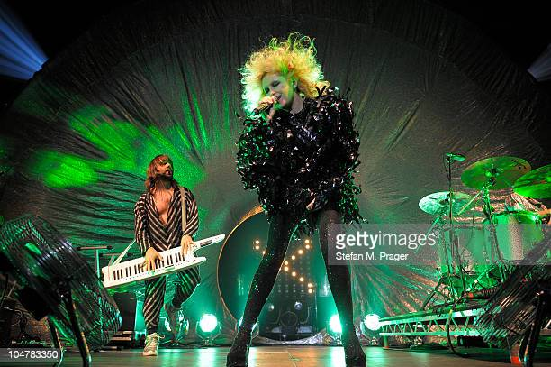 Will Gregory and Alison Goldfrapp perform on stage on October 4 2010 in Munich Germany