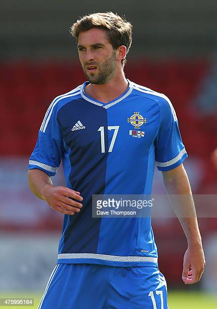 Will Grigg of Northern Ireland during the International friendly match between Northern Ireland and Qatar at The Alexandra Stadium on May 31 2015 in...