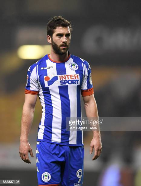 Will Grigg of Wigan Athletic during the Sky Bet Championship match between Wolverhampton Wanderers and Wigan Athletic at Molineux on February 14 2017...