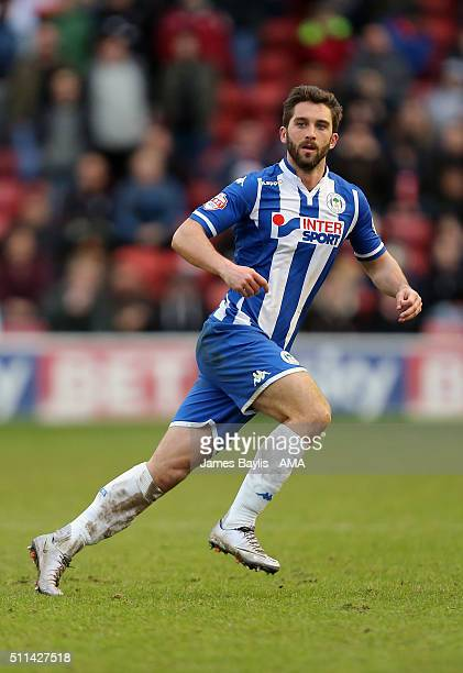 Will Grigg of Wigan Athletic during the Sky Bet League One match between Walsall and Wigan Athletic at Bescot Stadium on February 20 2016 in Walsall...