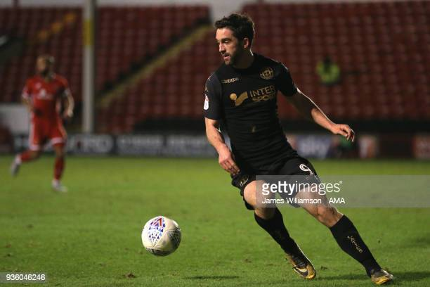 Will Grigg of Wigan Athletic during the Sky Bet League One match between Wigan Athletic and Walsall at Banks' Stadium on March 23 2018 in Walsall...