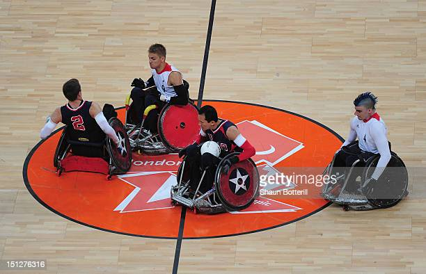Will Groulx of USA in action during the Wheelchair Rugby match between United States and Great Britain on day 7 of the London 2012 Paralympic Games...