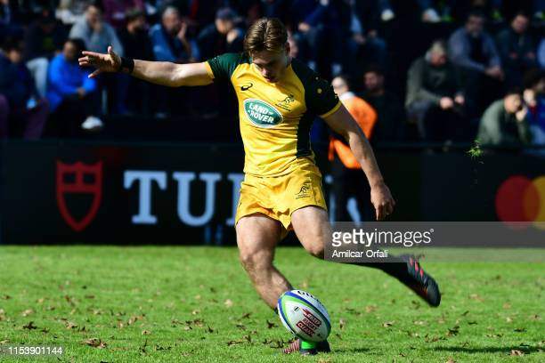 Will Harrison of Australia takes a penalty kick during a first round match between Australia U20 and Italy U20 as part of World Rugby U20...