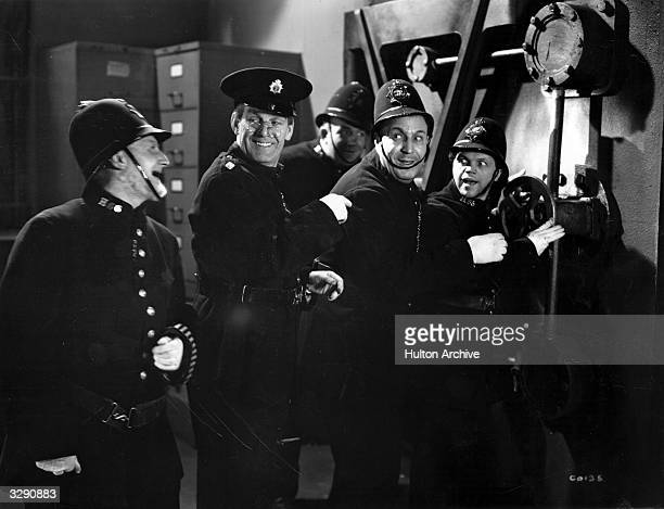 Will Hay and Moore Marriott star in the Gainsborough comedy 'Convict 99' directed by Marcel Varnel
