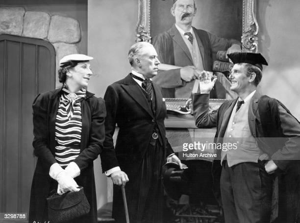 Will Hay establishes his popular comic schoolmaster persona in the film 'Good Morning Boys' Title Good Morning Boys Studio Gainsborough Director...