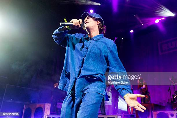 Will Heard performs with Rudimental at Hackney Empire on September 24 2015 in London England
