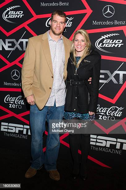 Will Herring and guest attends ESPN The Magazine's Next Event at Tad Gormley Stadium on February 1 2013 in New Orleans Louisiana