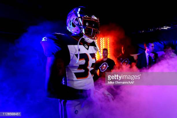 Will Hill III of Orlando Apollos takes the field prior to the game against the Atlanta Legends on February 09 2019 in Orlando Florida