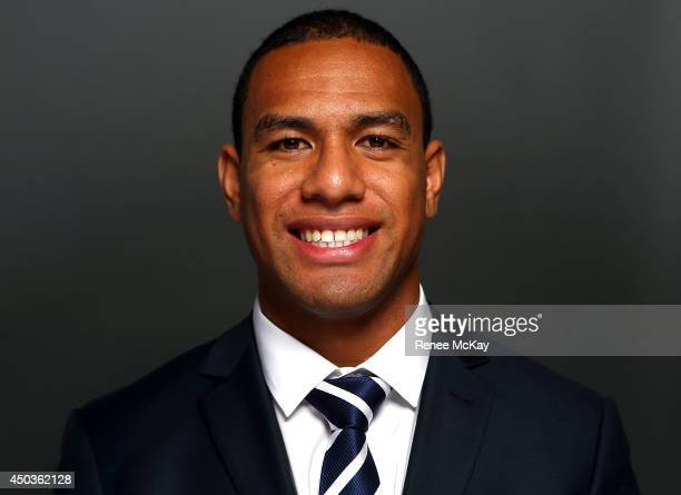 Will Hopoate poses for a photograph during the New South Wales Blues State of Origin team announcement at ANZ Stadium on June 10 2014 in Sydney...