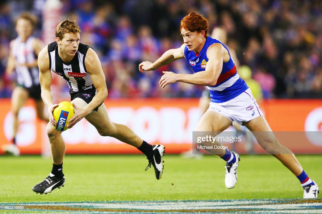 AFL Rd 10 - Collingwood v Western Bulldogs : News Photo