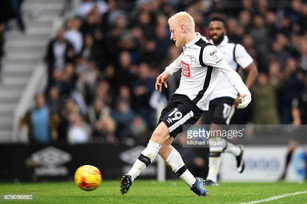 Will Hughes of Derby County scores his side's third goal during the Sky Bet Championship match between Derby County and Nottingham Forest at iPro...
