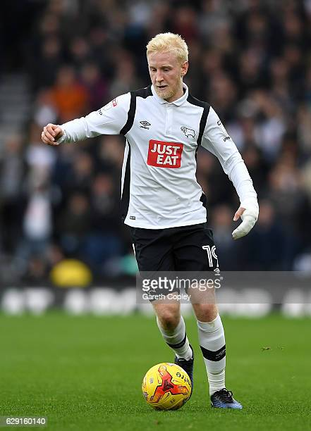 Will Hughes of Derby during the Sky Bet Championship match between Derby County and Nottingham Forest at iPro Stadium on December 11 2016 in Derby...