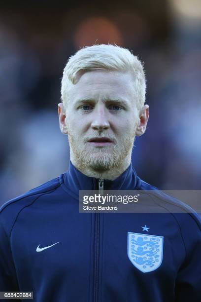 Will Hughes of England looks on prior to the U21 international friendly match between Denmark and England at BioNutria Park on March 27 2017 in...