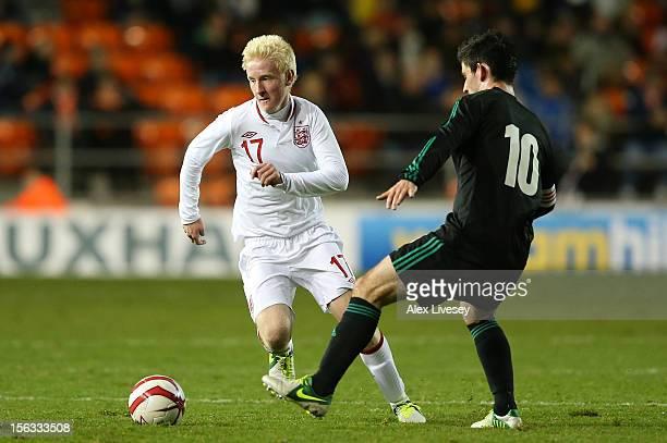 Will Hughes of England U21 beats Paddy McLaughlin of Northern Ireland U21 during the International Friendly Match between England U21 and Northern...