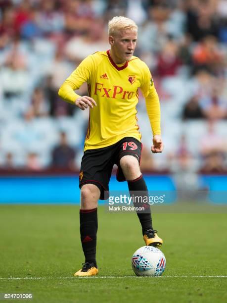 Will Hughes of Watford during the pre season friendly match between Aston Villa and Watford at Villa Park on July 29 2017 in Birmingham England