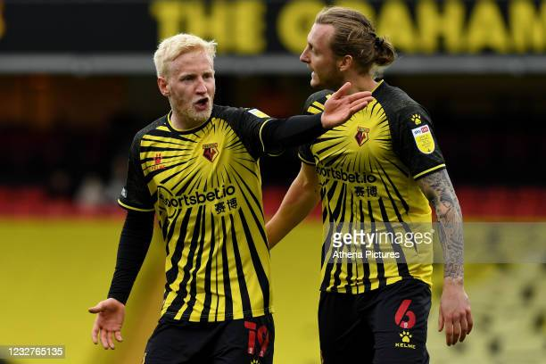 Will Hughes of Watford during the Sky Bet Championship match between Watford and Swansea City at Vicarage Road on May 08, 2021 in Watford, England....