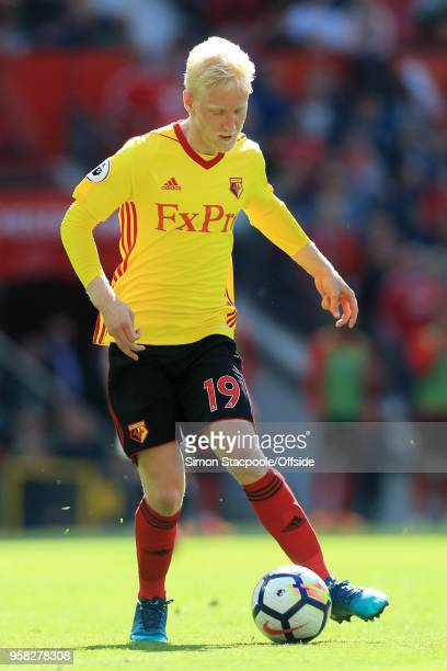 Will Hughes of Watford in action during the Premier League match between Manchester United and Watford at Old Trafford on May 13 2018 in Manchester...