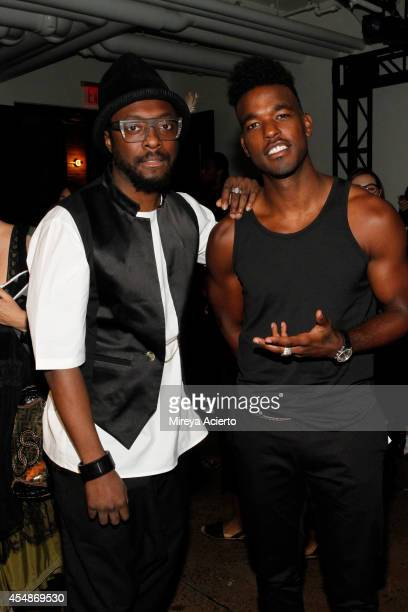 Will i Am and Luke James attend the Public School fashion show during MercedesBenz Fashion Week Spring 2015 at Milk Studios on September 7 2014 in...