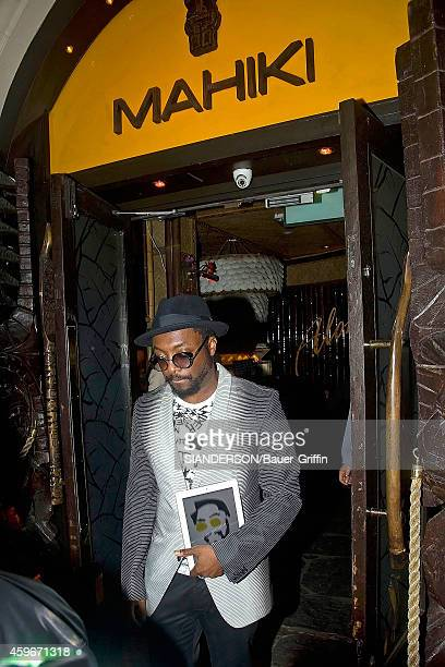 Will I Am is seen leaving Mahiki night club on June 01 2012 in London United Kingdom