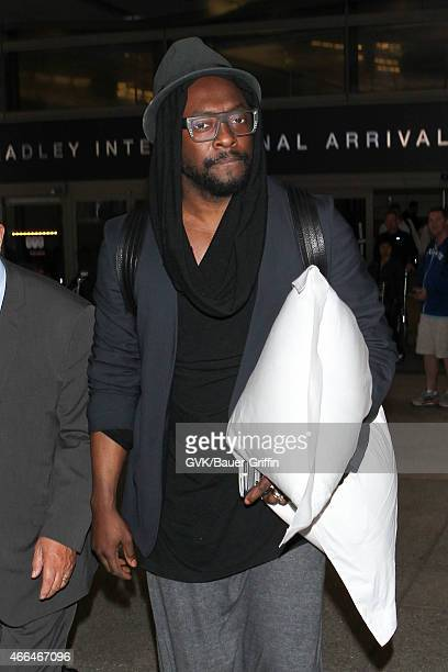 Will I Am seen at LAX on March 15, 2015 in Los Angeles, California.