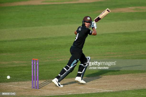 Will Jacks of Surrey bats during the Royal London OneDay Cup game between Surrey and Glamorgan at The Kia Oval on June 6 2018 in London England