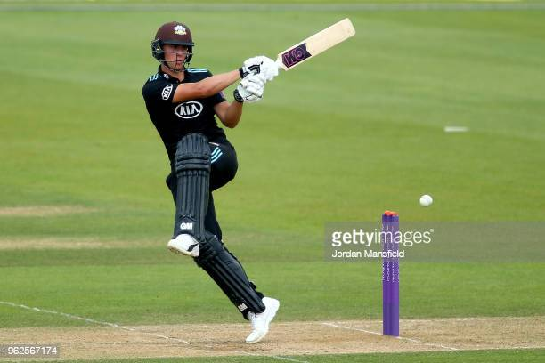 Will Jacks of Surrey bats during the Royal London OneDay Cup match between Surrey and Gloucestershire at The Kia Oval on May 23 2018 in London England