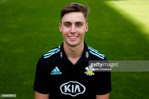 Will Jacks of Surrey CCC poses for a head shot during the Surrey CCC Photocall at The Kia Oval on April 16 2018 in London England