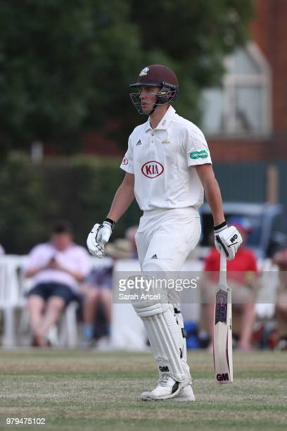 Will Jacks of Surrey takes to the field on his Championship debut during day 1 of the Specsavers County Championship Division One match between...