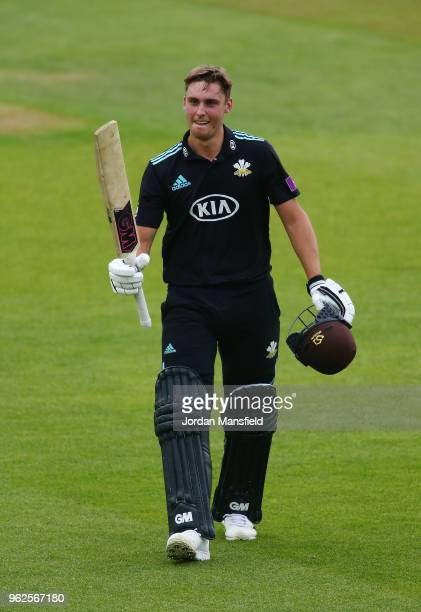 Will Jacks of Surrey walks off the field after being dismissed for 121 during the Royal London OneDay Cup match between Surrey and Gloucestershire at...