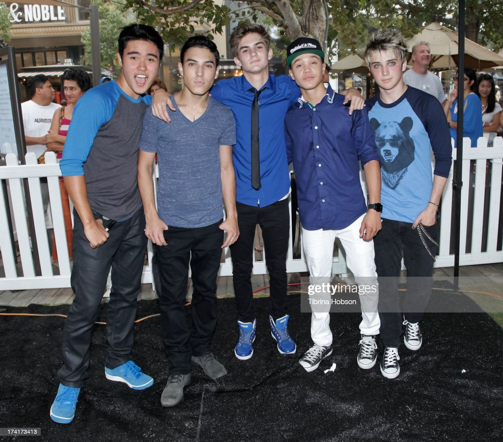 Will Jay; Gabriel Morales; Cole Pendery; Dana Vaughns and Dalton Rapattoni of IM5 attend at the 'Wee Rock!' concert and benefit for the Children's Hospital of Los Angelesat at The Americana at Brand on July 20, 2013 in Glendale, California.