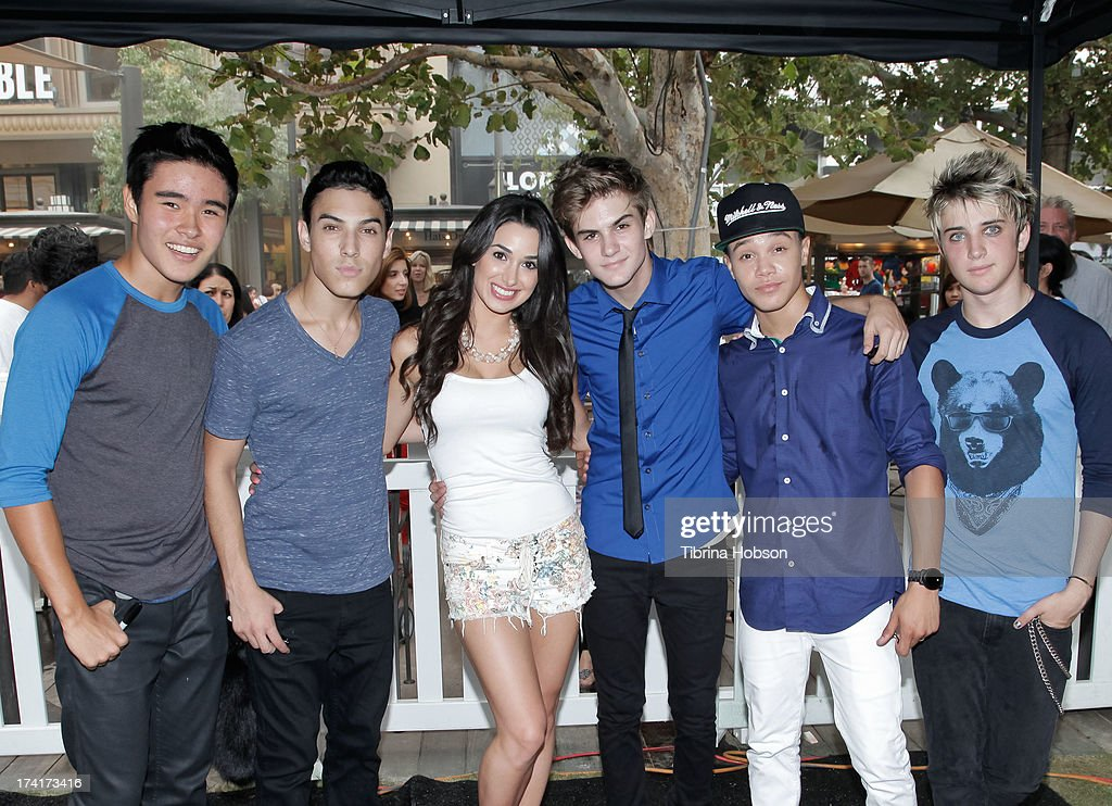 Will Jay, Gabriel Morales, Ellenie Galestian, Cole Pendery, Dana Vaughns and Dalton Rapattoni of IM5 attend at the 'Wee Rock!' concert and benefit for the Children's Hospital of Los Angelesat at The Americana at Brand on July 20, 2013 in Glendale, California.