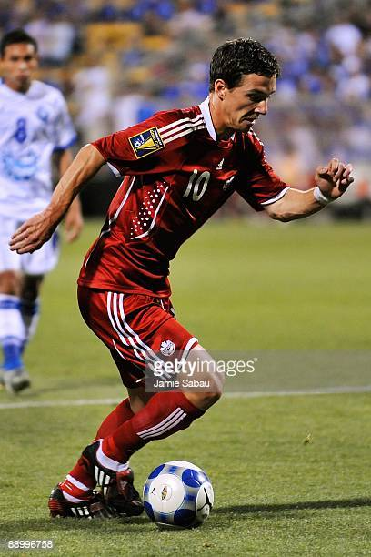 Will Johnson of Canada controls the ball against El Salvador during a CONCACAF Gold Cup match at Crew Stadium on July 7 2009 in Columbus Ohio