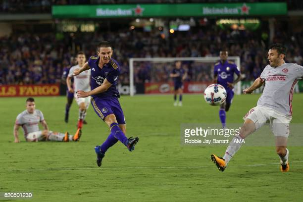 Will Johnson of Orlando City during the MLS match between Atlanta United and Orlando City at Orlando City Stadium on July 21 2017 in Orlando Florida