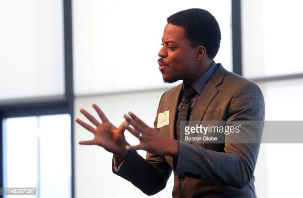 Will Jones III Founder of Two is Enough speaks at the Massachusetts Prevention Alliance panel of leaders in drug policy and behavioral health at the...