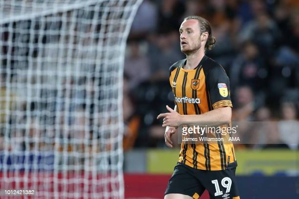 Will Keane of Hull City during the Sky Bet Championship match between Hull City and Aston Villa at KCOM Stadium on August 6 2018 in Hull England
