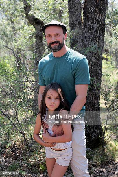 Will Keen and Dafne Keen attend 'The Refugees' Tv serie set filming on July 21 2014 in Madrid Spain