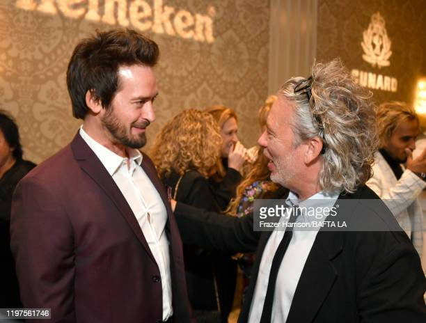 Will Kemp and Dexter Fletcher attend The BAFTA Los Angeles Tea Party at Four Seasons Hotel Los Angeles at Beverly Hills on January 04, 2020 in Los...