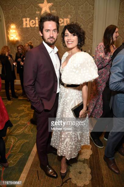 Will Kemp and Lisa Edelstein attend the BAFTA Tea Party Presented by Jaguar Land Rover and BBC America on January 04, 2020 in Los Angeles, California.
