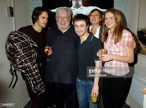 Will Kemp Richard Griffiths Daniel Radcliffe Jenny Agutter and Joanne Christie pose backstage during the press night of 'Equus' at the Gielgud...