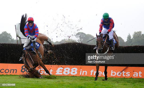 Will Kennedy riding Leath Acra Mor clear the last to win The 32Red Beginners' Steeple Chase as Tony McCoy riding Rendl Beach falls at Fontwell...