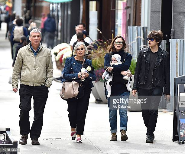 Will KnightleySharman MacdonaldKeira Knightley James RightonEdie Righton are seen in Soho on October 27 2015 in New York City